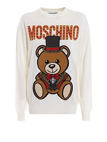 MOSCHINO Women's 09010501A1002 White Wool Sweater for sale  Delivered anywhere in Canada