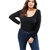 Litetao Women Fashion Sexy Plus Size Tops Pullover O-Neck Shirt Criss Cross Blouse