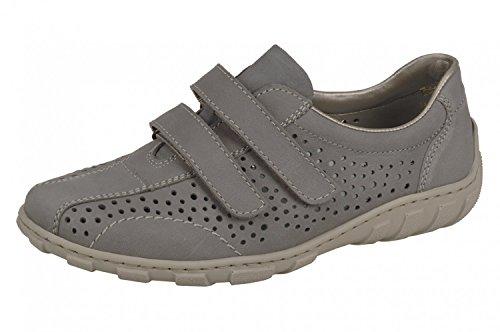 Rieker Ladies Velcro Shoes L3175-43 gray size 37 to 42 grau L0QWFgt