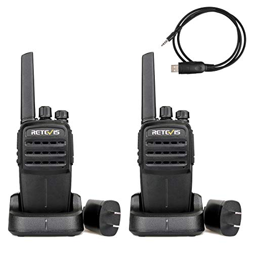 Retevis RT40 Walkie Talkies 48 Channel Two-Way Radio Digital Analog Licence-Free Group Call 1700mAh Li-on Rechargeable Battery with USB Charger (1 Pair)