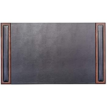 Amazon Com Dacasso Walnut Amp Leather 34 Quot X 20 Quot Side Rail