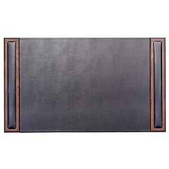 Image of Dacasso Walnut & Leather 34' x 20' Side-Rail Desk Pad, Walnut