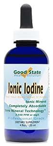Good State - Liquid ionic iodine - 4 drops equals 500 mcg per serving - 600 total servings - 4 ounces