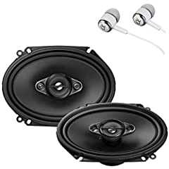 "General Features: 6"" x 8"" A-Series 4-Way Car Speakers Power Handling: Peak: 350 watts per pair / 125 watts each RMS: 80 watts per pair / 40 watts each Carbon and MICA Reinforced IMPP Woofer Cone Elastic Polymer Surround Material Dual 11mm Dom..."