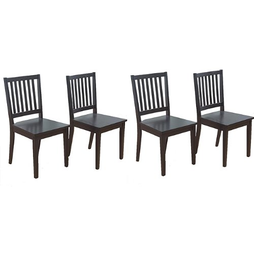 Rubberwood Dining Chairs (Set of 4). ()