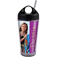 PixCup - Photo Tumbler with Straw – The Cup That's A Picture Frame – Do It Yourself - Insert Your Own Photos or Designs – Holds 16 ounces – Easy Carry Top