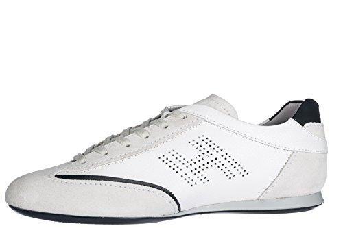 Hogan Herenschoenen Mannen Suède Sneakers Schoenen Olympische Wit
