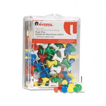 UNV31310 - Universal Colored Push Pins ()
