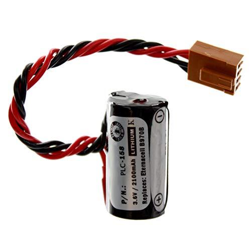 PLC Lithium 3.6V 2100mAh Computer Backup Battery, Replaces Omron 3G2A9-BAT08, C1000HF SERIES, C120F SERIES, C20 C2000H SERIES, C20PF SERIES, C28PF SERIES, C40PF SERIES, C500F SERIES, C50K SERIES -