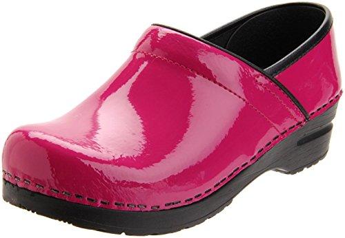 Closed Back Leather Clogs (Sanita Women's Professional Flexible Closed Back Clogs, Pink Leather, 40 M EU, 9-9.5 M)