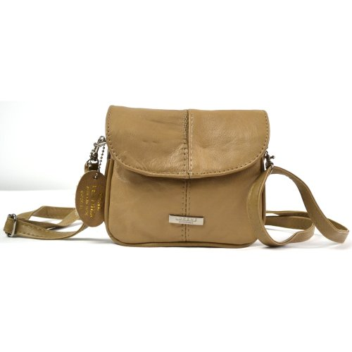 Fawn Ladies Purse Cross Body Handy Leather Black Bag Brown Beige Dark Fawn Lightweight Tan AnqAOUw6f