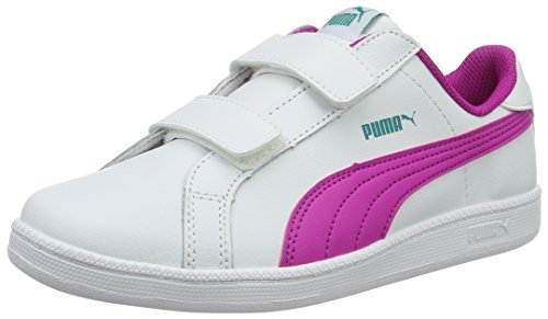 Puma Smash Fun L V Ps, Zapatillas Unisex Niños Blanco (Puma White-ultra Magenta 11)