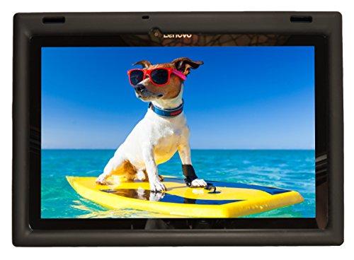 Bobj Rugged Case for Lenovo 10 TB-X103F and Tab 2 A10-30, Tab2 X30F - BobjGear Custom Fit - Patented Venting - Sound Amplification - BobjBounces Kid Friendly (Bold Black)