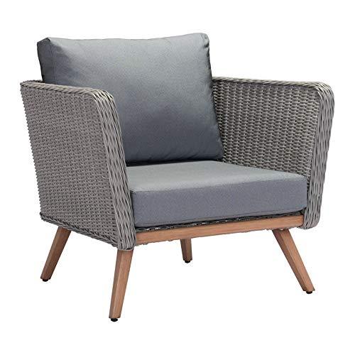 Zuo Monaco Patio Arm Chair Natural & Gray (Chair Patio Zuo)