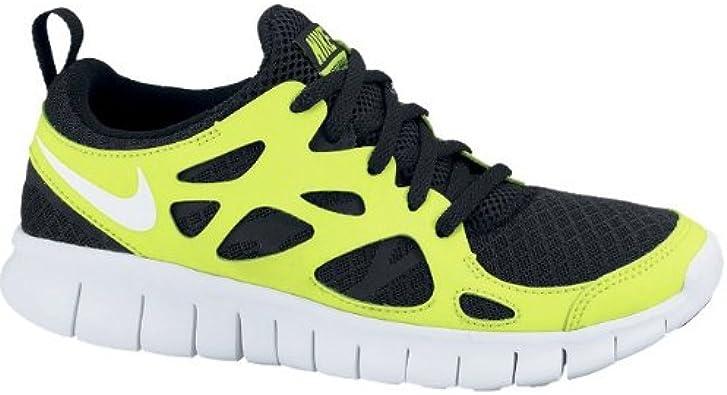 Nike Free Run 2.0 GS Volt Black White