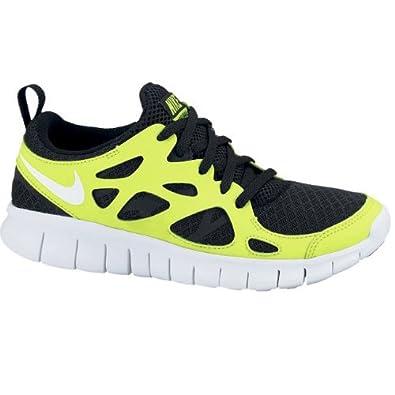 low priced 2388b bbc40 Nike Free Run 2.0 junior SCHWARZ 443742008 Size  UK 3, 5  Amazon.co.uk   Shoes   Bags