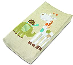 Summer Infant Ultra Plush Character Changing Pad Cover, Safari Stack