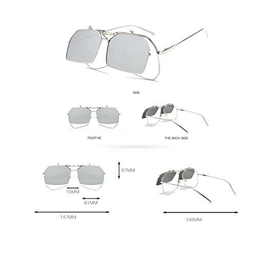 Protección De Protegidas De Sol Sol Ultravioleta La Moda Douerye La Gafas De Gafas Polarizadas Bicolores De wqX50t