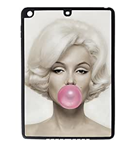 iPad Air Rubber Silicone Case - Marilyn Monroe Bubble Gum Bubble by lolosakes