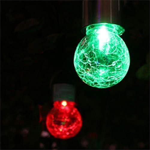 Xigeapg 8Pi/èCes S/éRies Lampes /à /éNergie Solaire Suspendues avec 7 Couleurs /à Changement Automatique Imperm/éAbles /à LEau en Plein Air Fissur/é Boule Verre SAllume Mieux pour D/éCoration