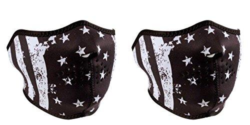 bundle-2-items-1-zanheadgear-black-white-vintage-us-flag-face-mask-half-face-neoprene-face-mask-and-