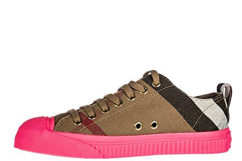 Burberry Zapatos Zapatillas de Deporte Mujer Nuevo Marrón
