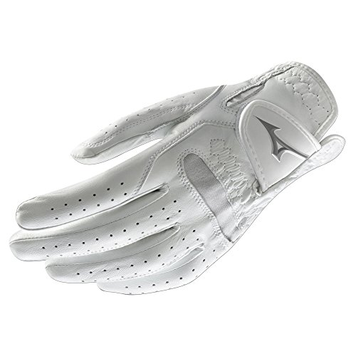 Mizuno 2018 Comp Women's Golf Glove, Left Hand, White/Black, (Black Comp Gloves)