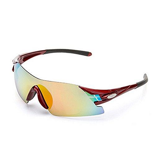 Bordes HD Color para Azul de Sin Sol Blanco Gafas Gafas Sol Exteriores LBY para Gafas Hombre Gafas para Deportivas Miopía qPtwT4P