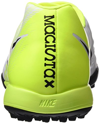 Nike Herren Magistax Onda II TF Fußballschuhe Weiß (White/Black-Volt-Pure Platinum)
