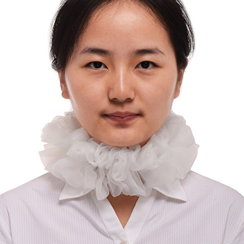 (BLESSUME Victorian Ruffle Collar Renaissance Costume Neck Ruffle Cosplay Props)