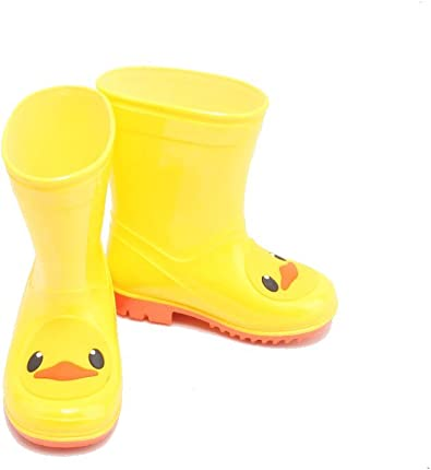 Rain Boots in Fun Duck Patterns for Toddlers and Kids Waterproof Rubber Rain Boots
