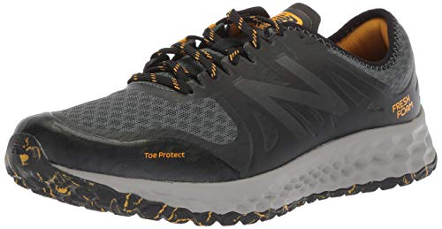 New Balance Men's Kaymin V1 Fresh Foam Trail Running Shoe, Faded Rosin/Black/Brass, 10.5 4E US (Best Cushioned Running Shoes For Men)