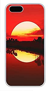 iPhone 5 5S Case Landscapes tropical Sun PC Custom iPhone 5 5S Case Cover White