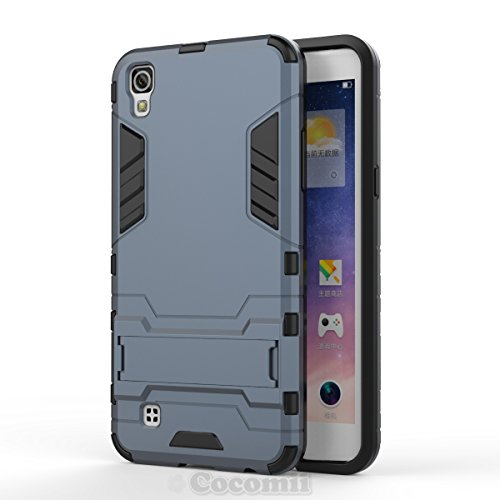 LG X Power Case, Cocomii Iron Man Armor NEW [Heavy Duty] Premium Tactical Grip Kickstand Shockproof Hard Bumper Shell [Military Defender] Full Body Dual Layer Rugged Cover (Black)