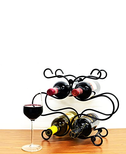 Superiore Livello Florence Metal 6 Bottle Countertop Wine Holder with Standing Rack - Florence Counter