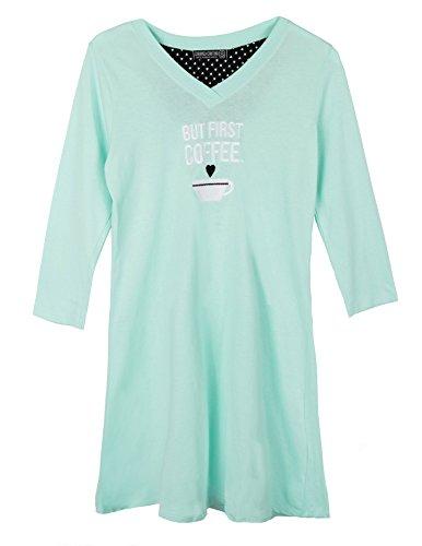 Tommy Hilfiger Womens Long Sleeve T-Shirt Pajama Top Pj Pajama Top