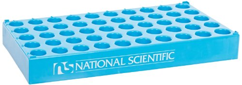 National Scientific C4015-25 Polypropylene Vial Rack for 15mm Diameter Vial (Case of 5) by National Scientific