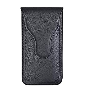 HITFIT Leather Belt Clip Case with Double Mobile Pocket Cover, Magnetic Cover for vivo X60 Pro 5G / vivo iQOO 7 / vivo…