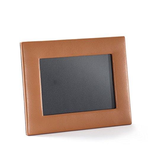 Grain Photo Leather (5X7 Landscape Photo Frame - Full Grain Leather - Cognac (brown))