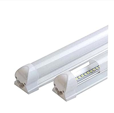 CIDASXL T8 LED tube for 4 feet, 48 inches, 18W, 96pc LED, 6000K color temperature, 2000 lumens, 50,000 hours! LED tube,Milk white cover , UL, DLC plug, double surface connection