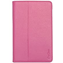 ProCase (TM) google nexus 7 case Slim Leather Case Cover Google Nexus 7 Tablet, built-in Flip Stand, w/ sleep / wake feature (Pink)
