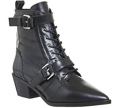 Black Up Lace Office Boots Leather Ambassador x1SwHP