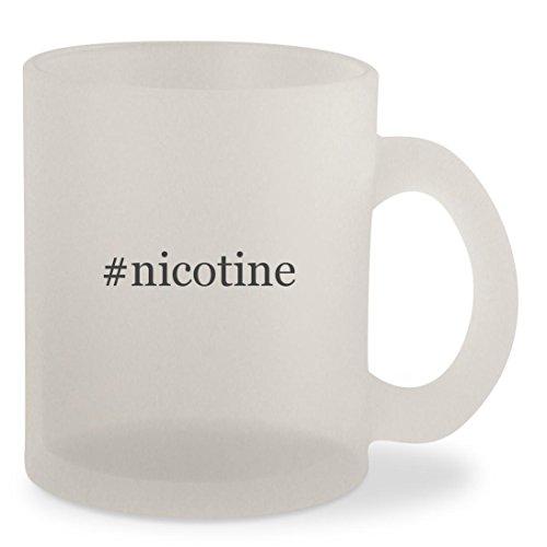 #nicotine - Hashtag Frosted 10oz Glass Coffee Cup Mug