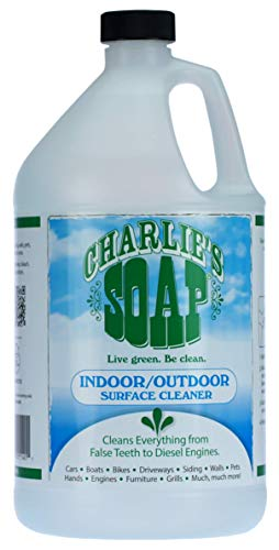 Charlie's Soap - Indoor-Outdoor Surface Cleaner - Non-Toxic, Biodegradable, Multi-Surface Use - (1 Gallon, 1 Pack) (Engine Diesel Hoods Good)