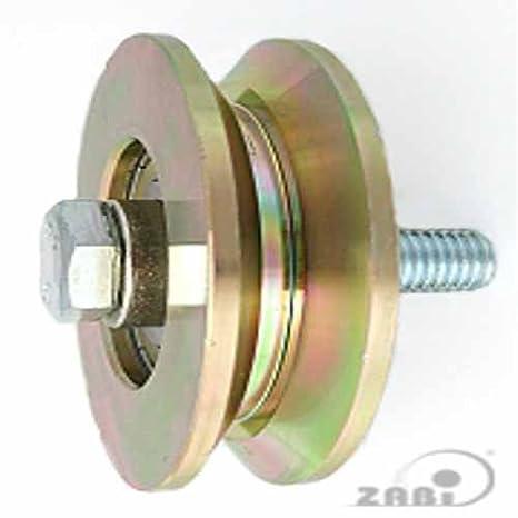 ZAB de S metal ruedas para puertas con rodamientos sobre soporte de forma T - Diámetro de 58 - Ø 117: Amazon.es: Bricolaje y herramientas
