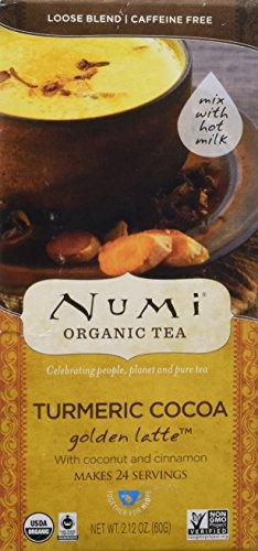 Numi Organic Tea Golden Latte, Turmeric Cocoa, 24 Count (Latte Cocoa)