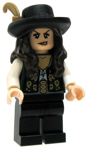 LEGO Minifigure - Pirates of the Caribbean - ANGELICA (Lego Pirates Of The Caribbean Angelica Minifigure)