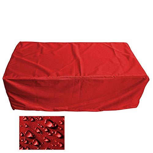 Holi Europe Premium Schutzhülle Gartenmöbel Abdeckung/Gartentisch Abdeckplane B 180cm x T 130cm x H 70cm Rot