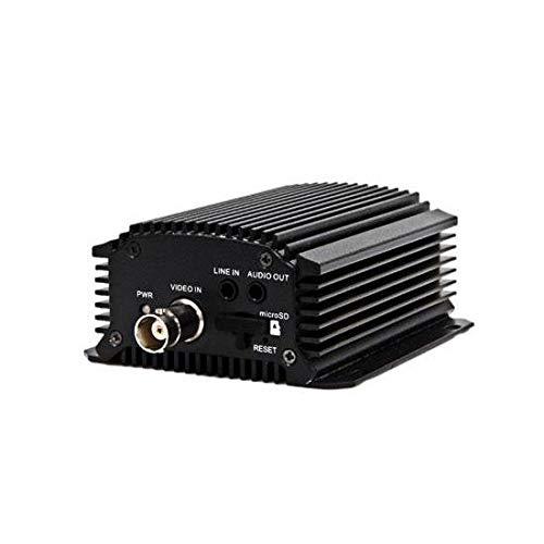 HIKVISON US VERSION Video Encoder, 1-Channel, H.264, MPEG4/2, MJPEG, 25/30fps (PAL/NTSC), BNC, 4 TB RAM, 12 VDC, 5 Watt, 80 MM Width x 39 MM Depth x 90 MM Height ()