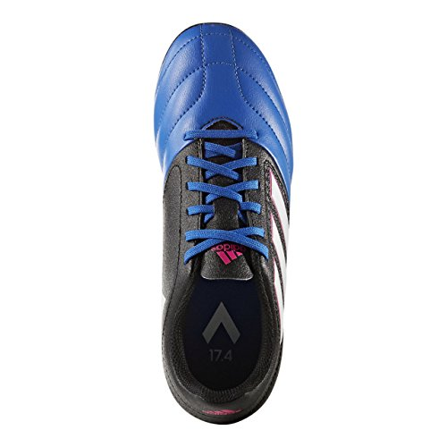 adidas ACE 17.4 FxG J - Botas de fútbolpara niños, Negro - (NEGBAS/FTWBLA/AZUL), -31